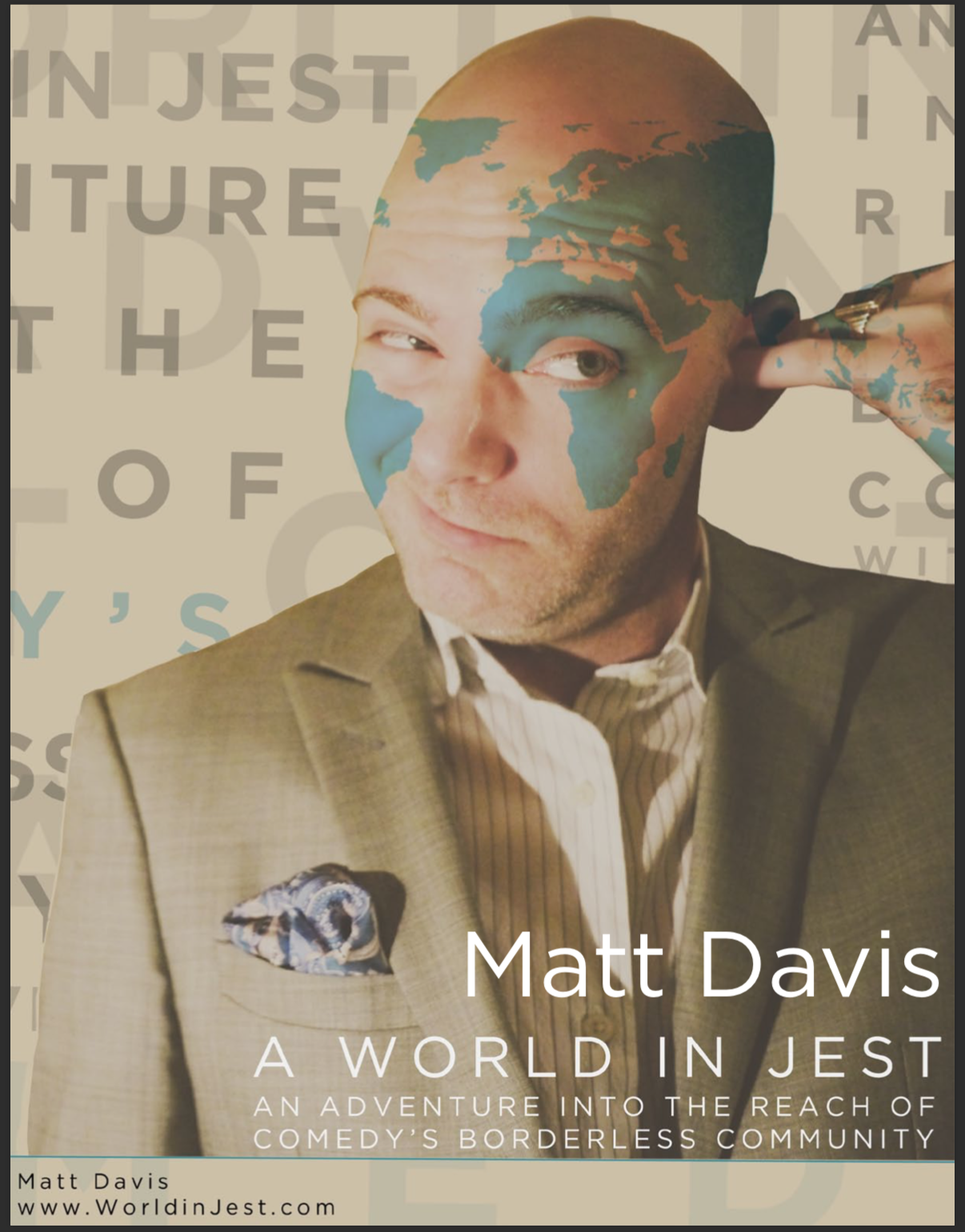 A World in Jest media kit cover (2015)