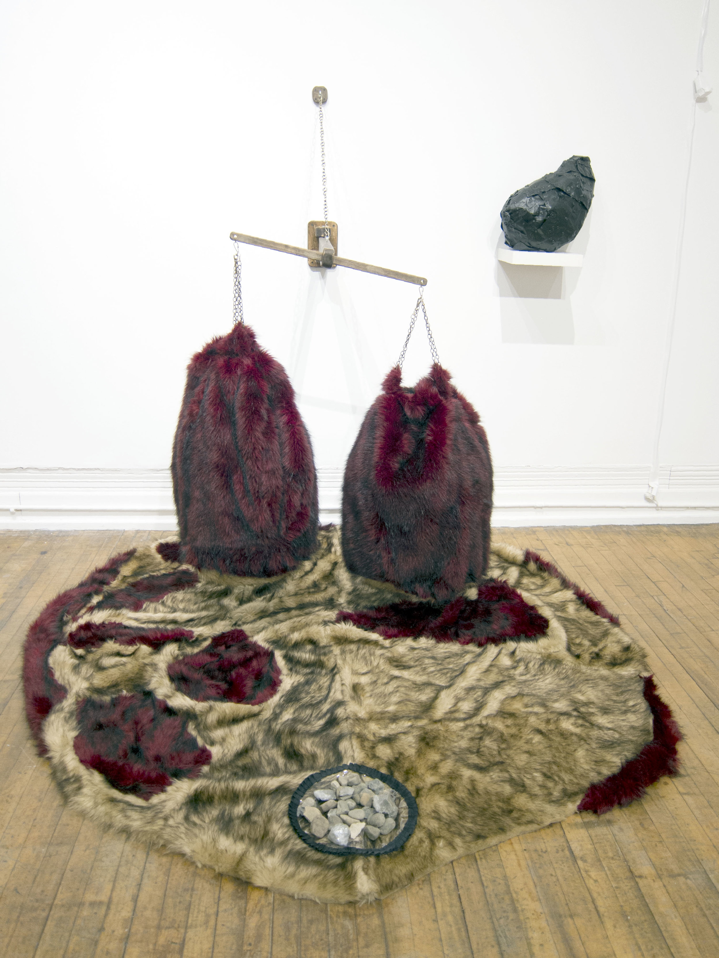 """Nursing Chamber , Mixed media installation, 30""""x20""""x22"""", 2018  A part of the installation """"PIPORNOT's Superorganism."""""""
