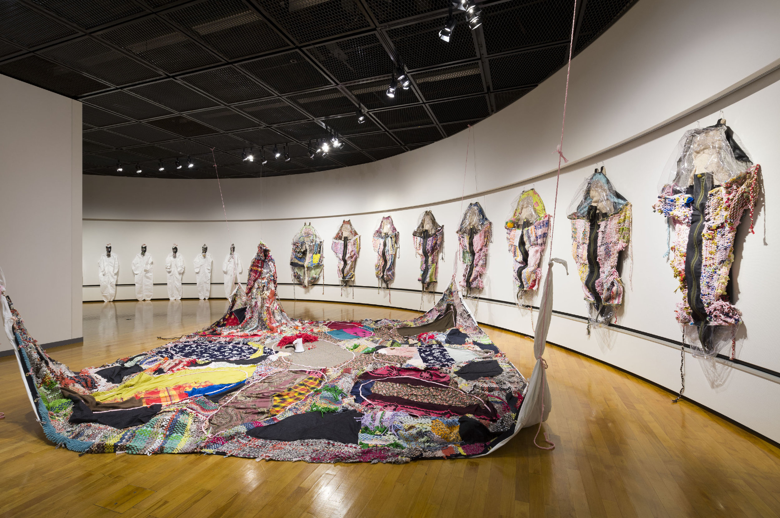 Runningaway Furoshiki , Mixed media installation, Dimensions variable, 2013  Photographed by Hideto Nagatsuka