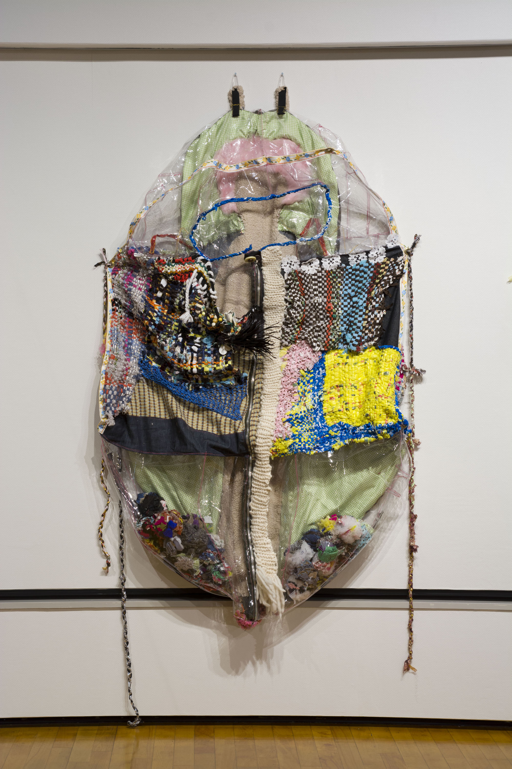 "Queen's Cocoonbag, Mixed media , 84""x48""x42"", 2013  A part of the installation,  Runningaway Furoshiki   Photographed by Hideto Nagatsuka"