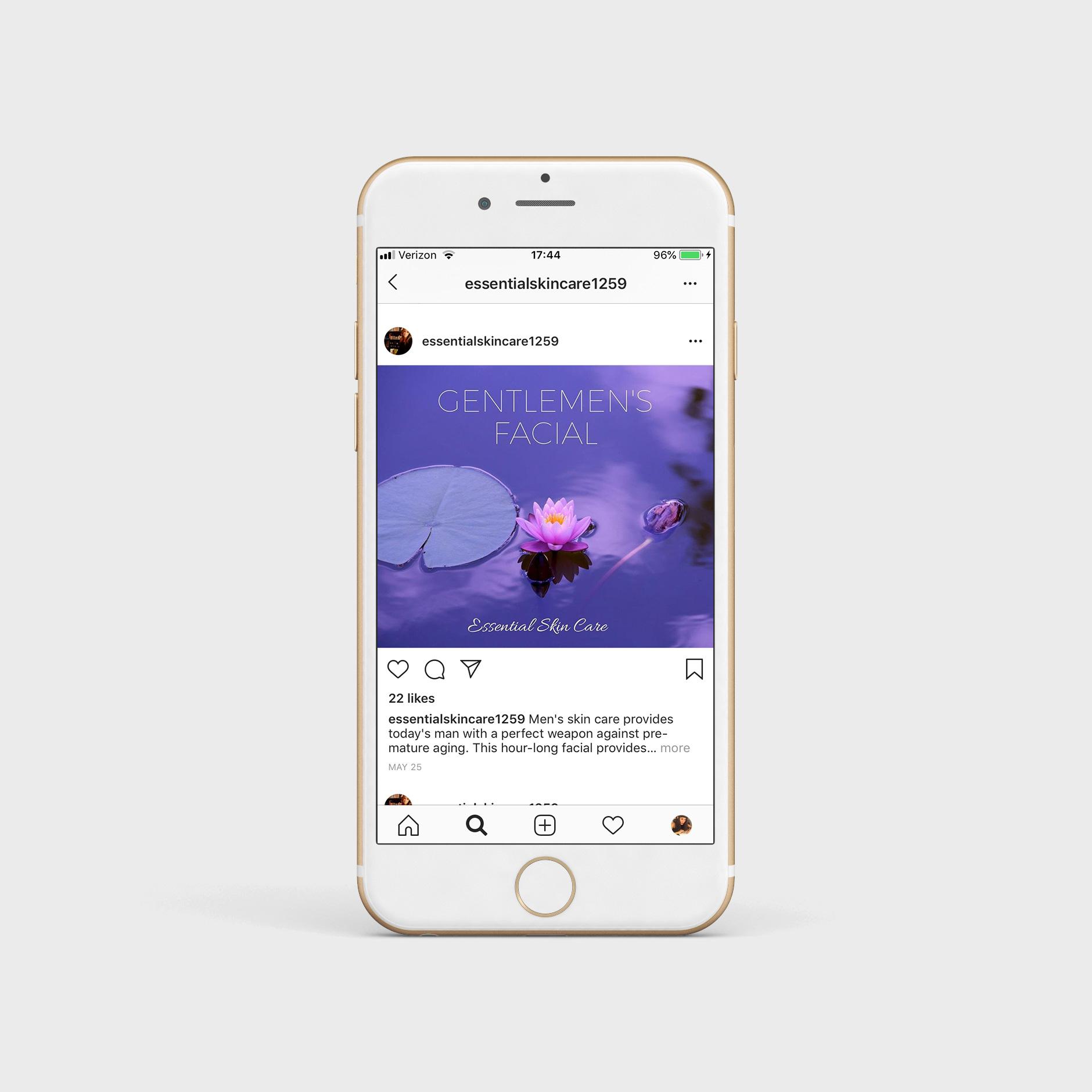 branded social media post
