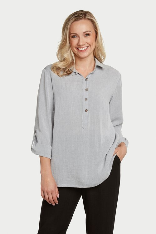 AA76 - Pullover Top w/ Square Buttons