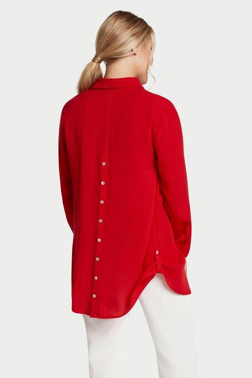 AA142 - Tab-Hem Button Back Shirt