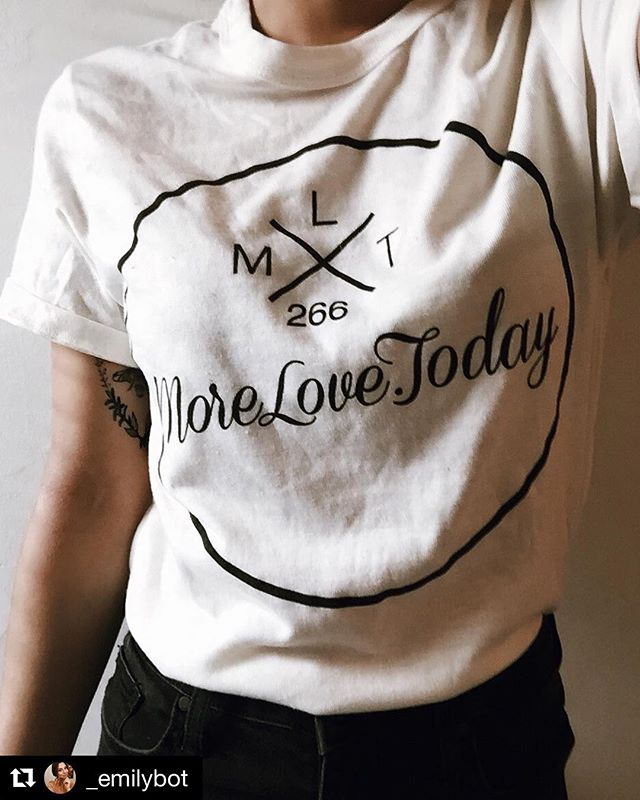thanks for the love @_emilybot !! #repost ・・・ So I recently stumbled across a movement called morelove.today which is a network that allows people to share a story anonymously. How it works is you go to morelove.today and submit your own story. You then have an option to order a t shirt which has a random number on it like 266, and then you go to their website and search the story of a stranger. I loved this movement and enjoyed sharing my story. Spread the word
