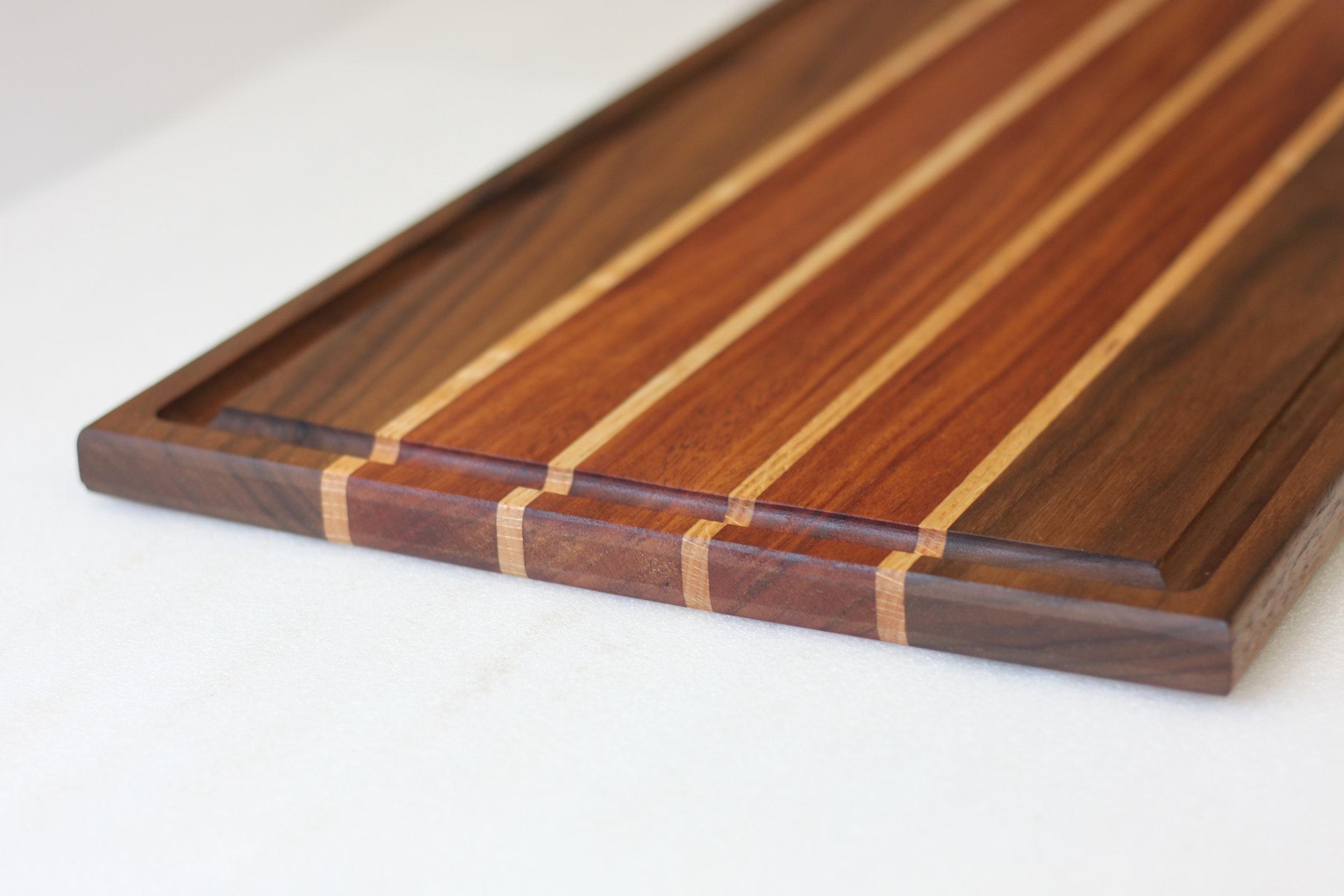 Walnut & Mahogany Cutting Board