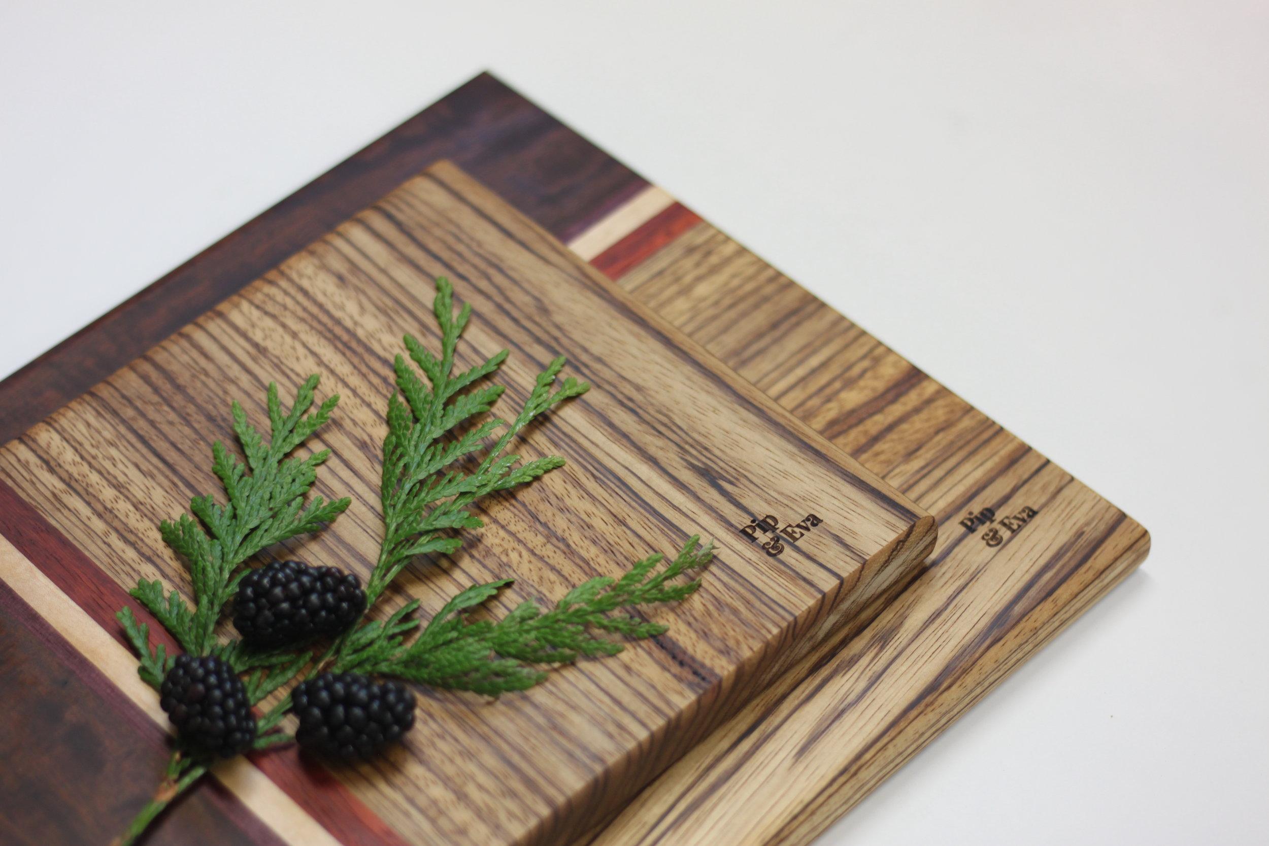 Zebrawood Cutting Board Set