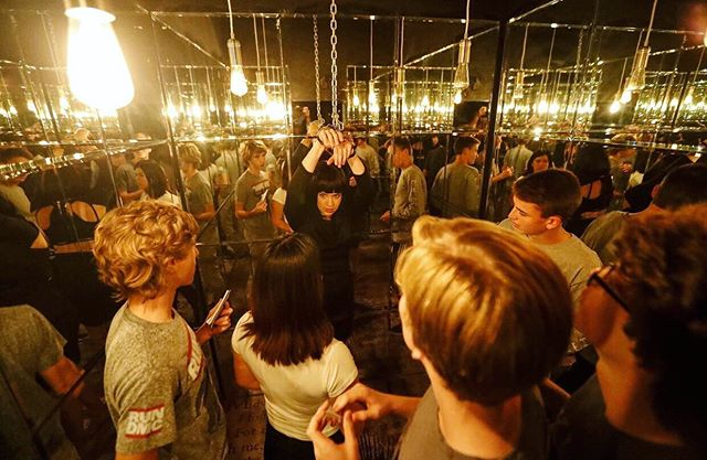 Paradiso: Chapter 1's mirror room- perfect for selfies and detaining FBI operatives  #setdesign
