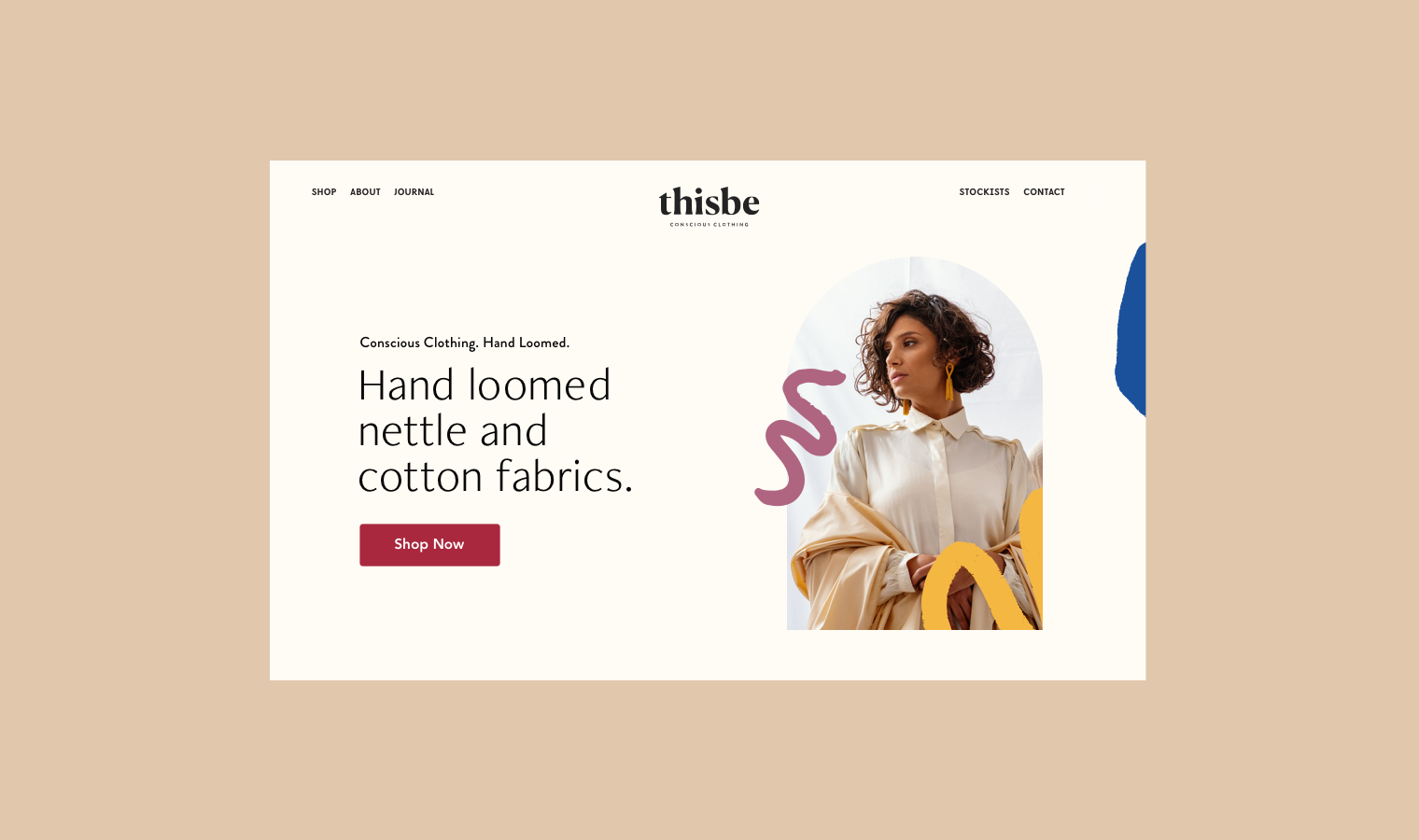 Website for Ethical Brand Thisbe Conscious Clothing Slow Fashion | Betsy & Francis | Ethical Design Agency