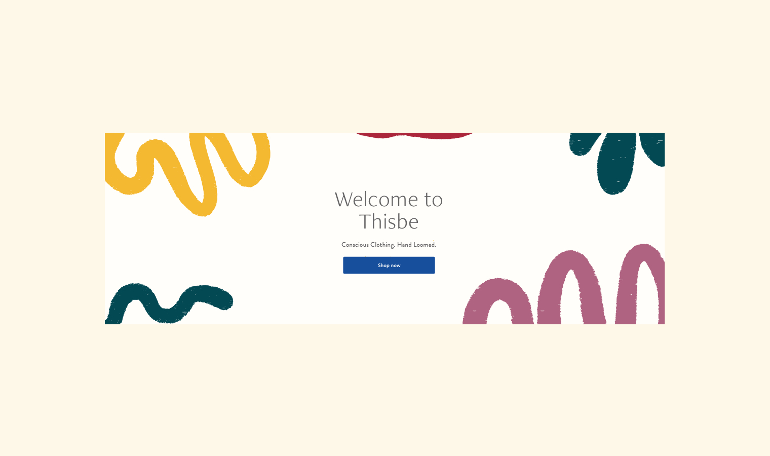 Website for Conscious Clothing Brand Thisbe Slow Fashion | Betsy & Francis | Ethical Design Agency