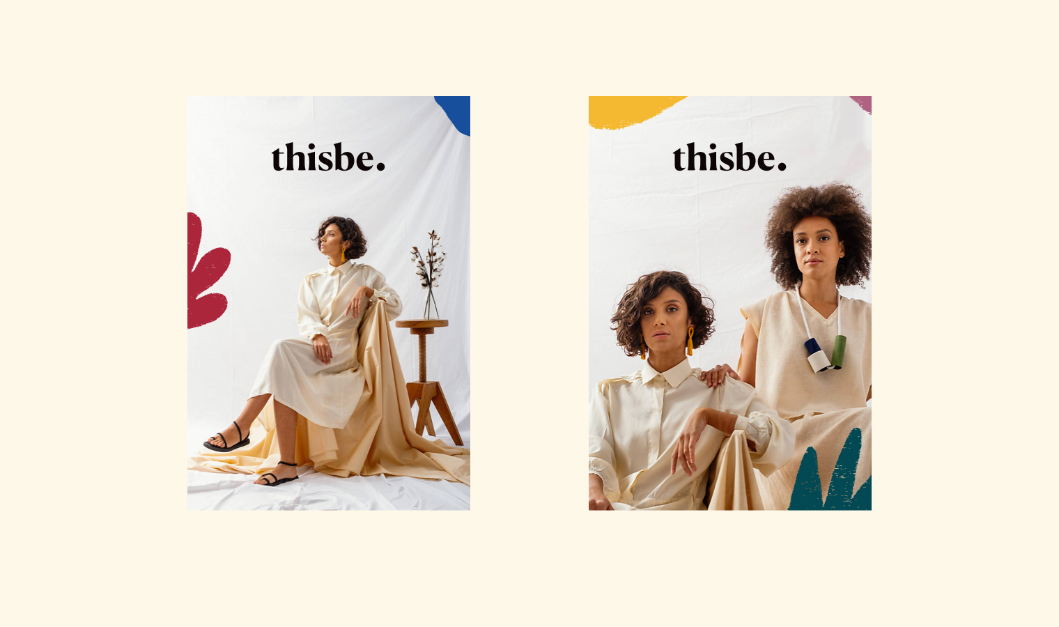 Branding for Conscious and Ethical Slow Fashion Brand Thisbe | Betsy & Francis | Ethical Design Agency