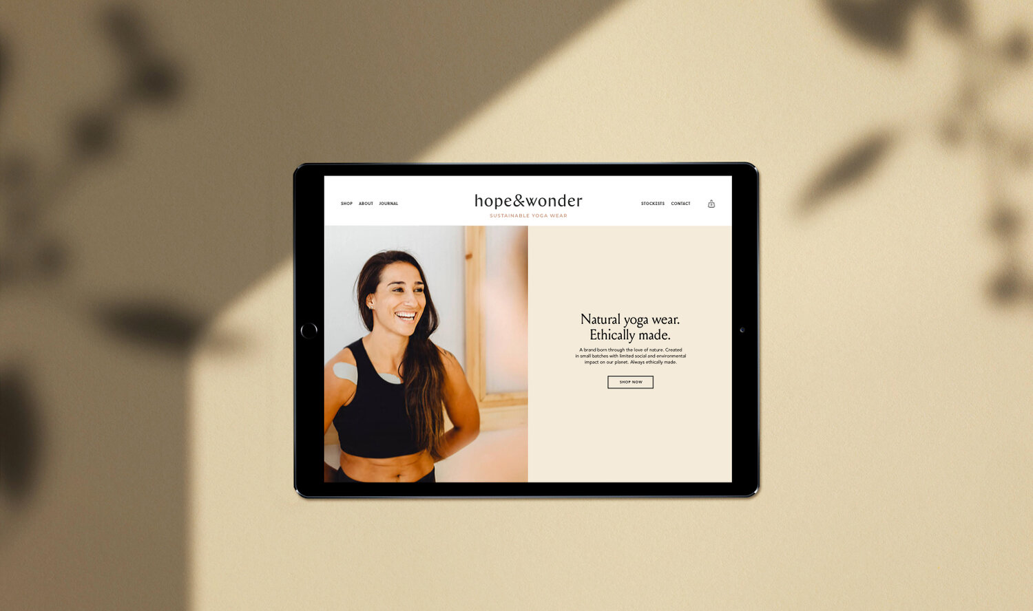 Web and Logo Design for Sustainable Yoga Wear Clothing Brand for the Conscious Consumer | Betsy and Francis | Ethical Design Agency.jpg