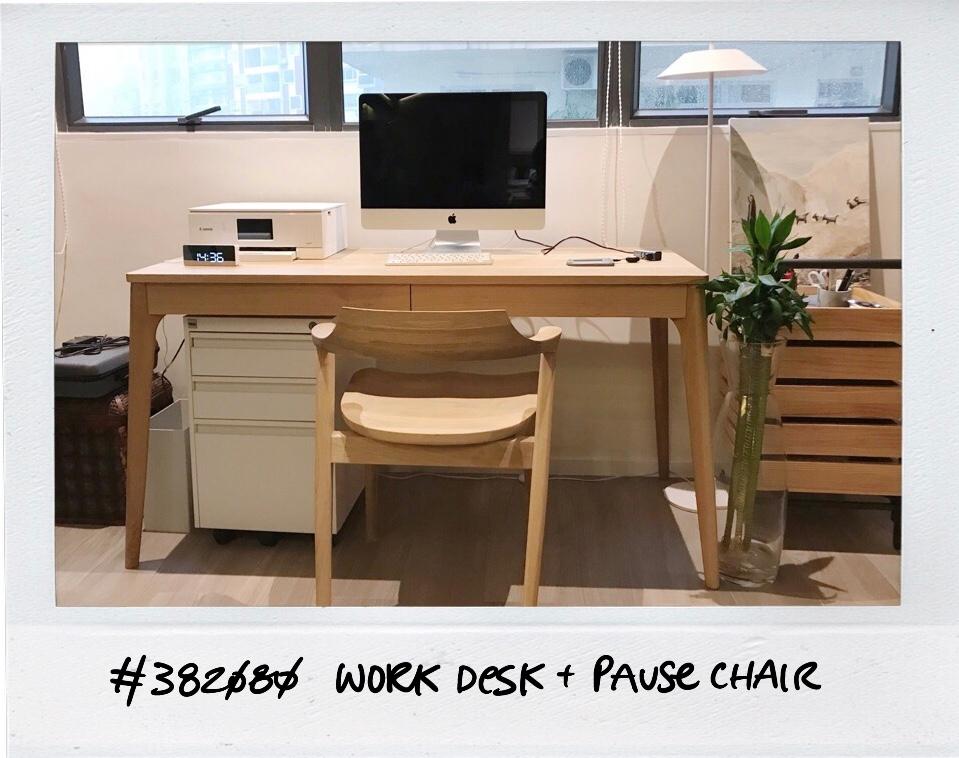 custom-made solid oak work desk by LITOOC