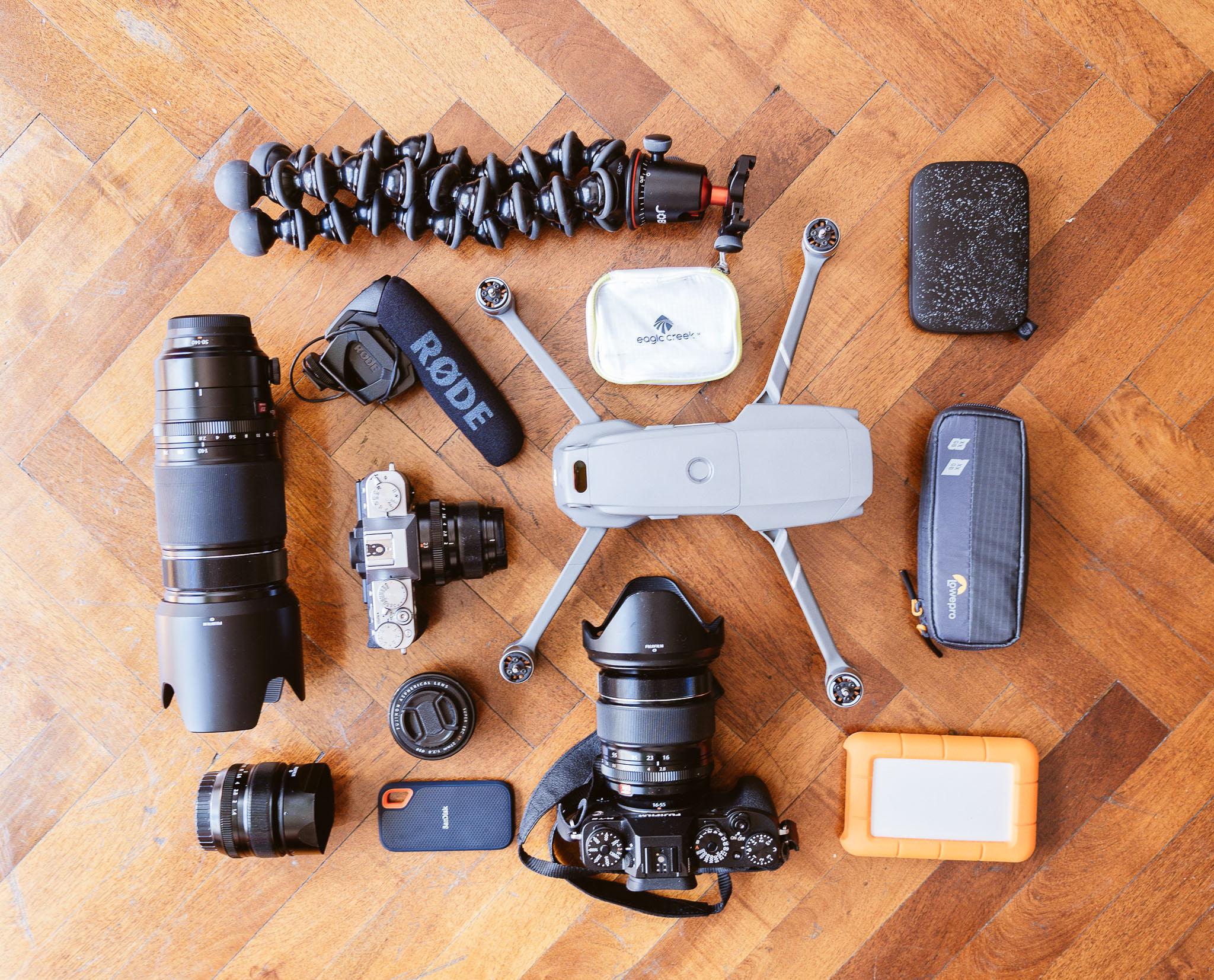 Die essentiellen Dinge meines Fotorucksacks.