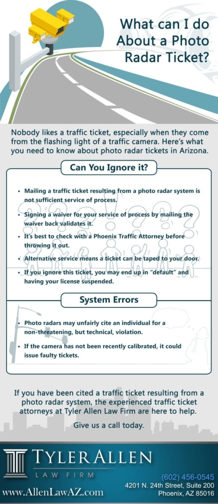 What can I do about a Photo Radar Ticket
