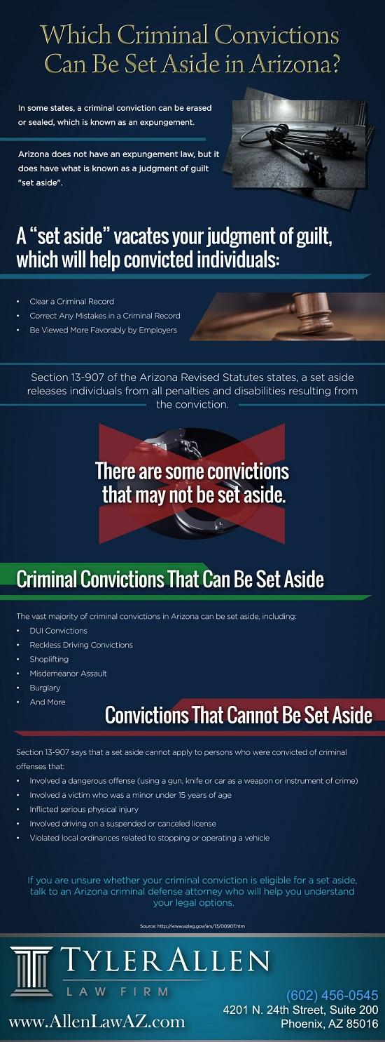 Which Criminal Convictions Can Be Set Aside in Arizona
