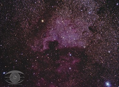 North American and Pelican Nebula and Deneb.  48 minutes of 120 second exposures @ ISO 1600