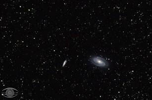 M81 and M82 – shot before receiving my coma corrector / field flattener. This image is cropped, but you can notice some coma and slightly softer focus in the corners of the image...