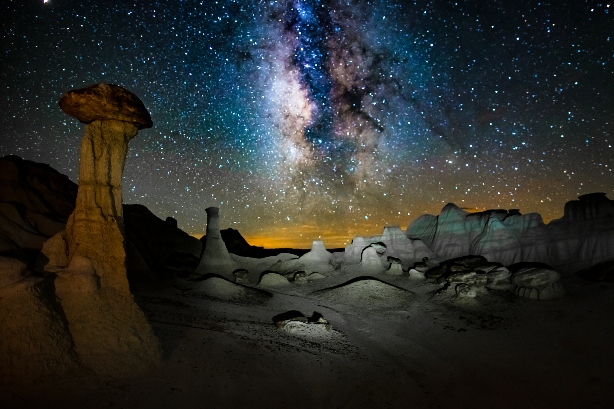 galactic journey    Image by    vo    lkhard sturzbecher     light painting with low level LED panels at the BLM Wilderness Study Area in New Mexico