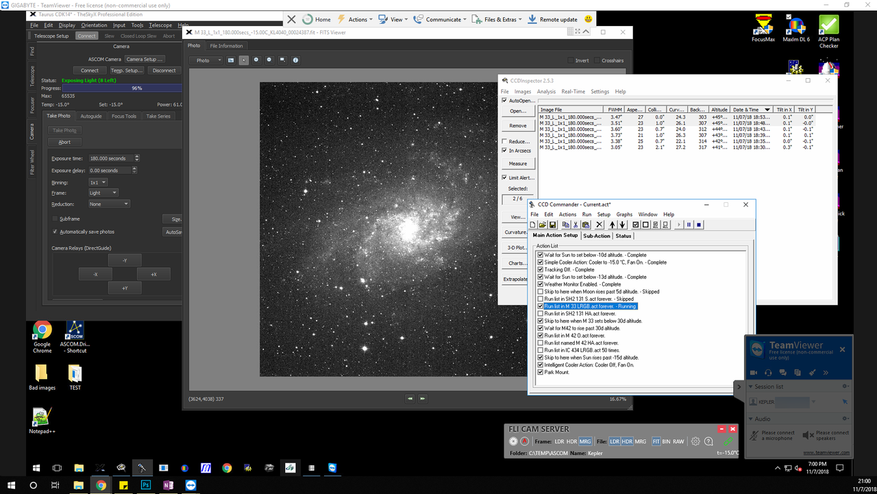 This screenshot shows a raw single luminance frame. To the untrained eye, it looks blown out and noisy, but I know better, having looked at a lot a raw files now - it looks great to me!