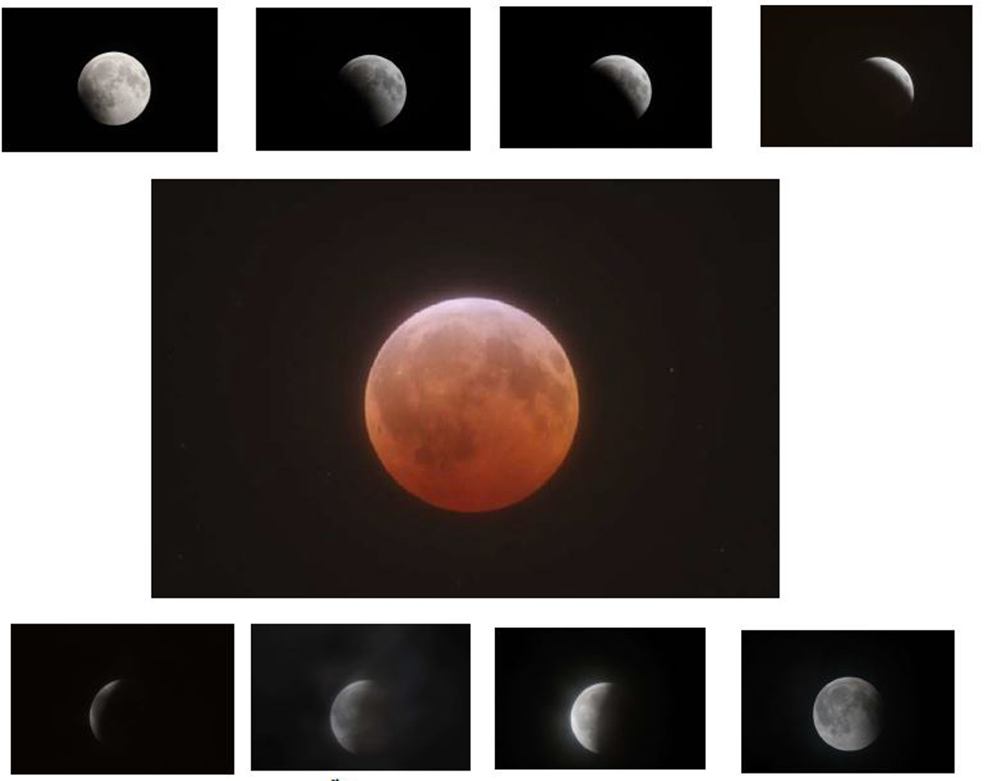 The December 21st, 2010 Total Lunar Eclipse – Partial Phases & Totality  Canon 40D at Prime Focus of an Orion EON ED80 Refracting Telescope  on a Losmandy G-11 Equatorial Mount