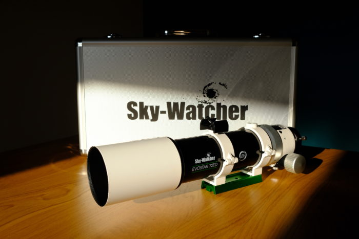 SkyWatcher Evostar 72ED with aluminum case