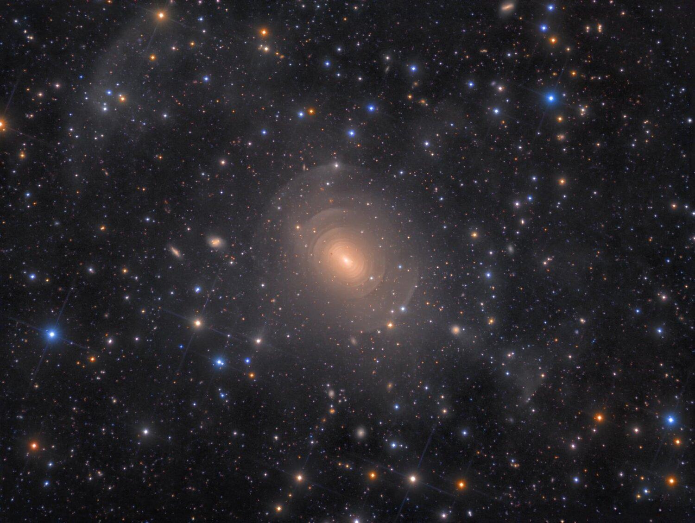 Shells of Elliptical Galaxy NGC 3923 in Hydra, by Rolf Wahl Olsen  Winner: Galaxies