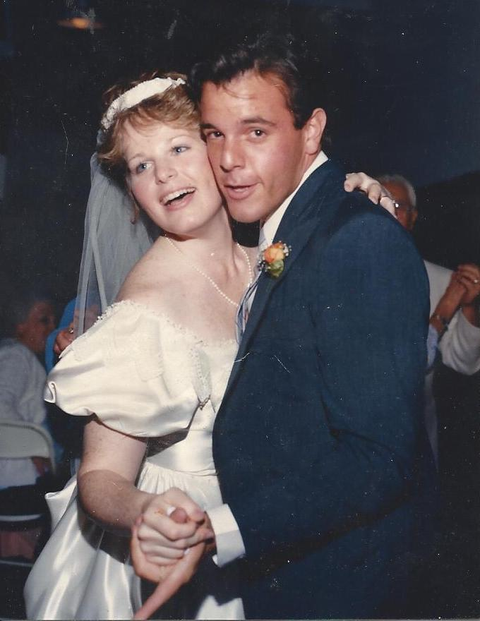 Here I am dancing with my brother John at my wedding in 1987.