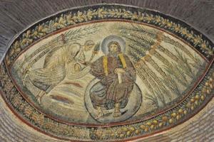 Deus, cuius thronus est ipsum universum rotundum, legem dat Moysi.
