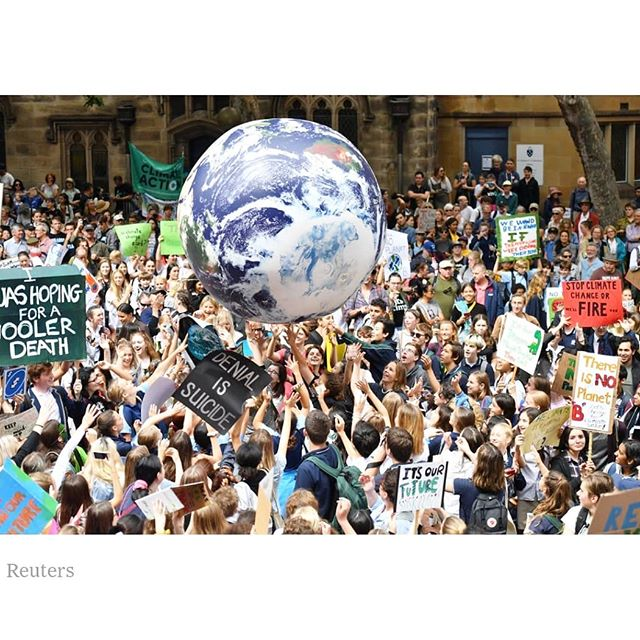 Around the globe the youth are marching for climate justice.  #powertothepeople #fridaysforfuture #greenfuture