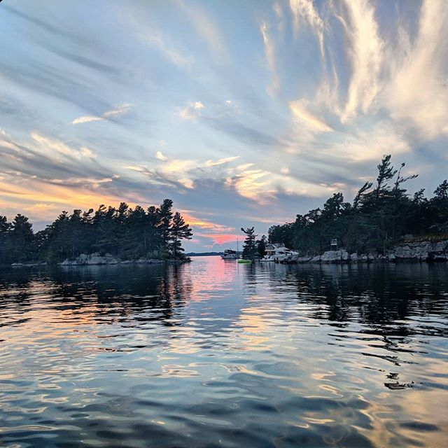 Happy earth day to our own back yard. What will you do today to green up your act?  #earthday #greenup #1000islands #thousandislands #allinthesameboat