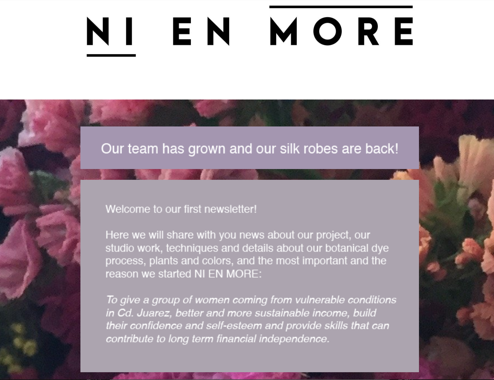Read our very first Newsletter here. -