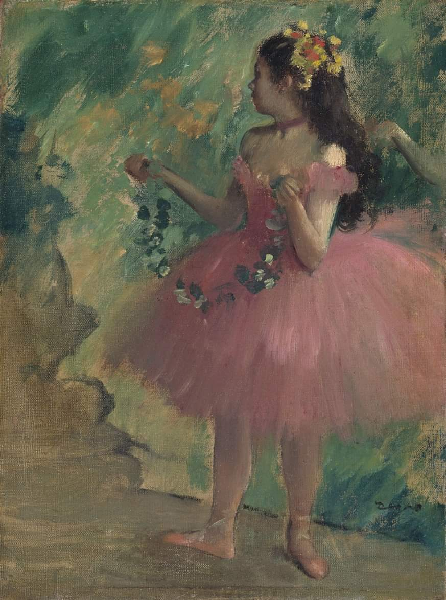 The Art Institute of Chicago  April 25 at 5:43 PM  ·  Image: [Now on view in Gallery 226A] Hilaire Germain Edgar Degas. Danseuse rose (Pink Dancer, 1878. Anonymous loan.