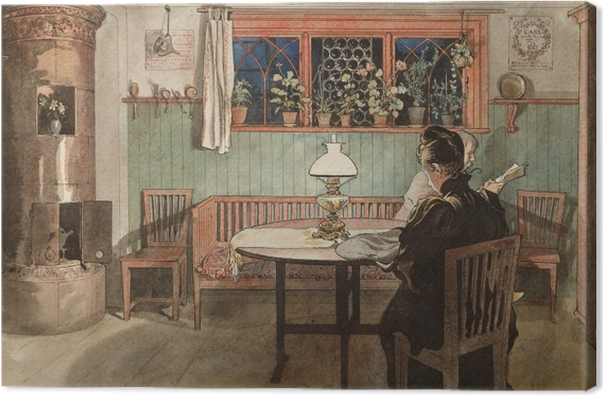 """When the Children have Gone to Bed,"" Carl Larsson (1895, Sweden)."