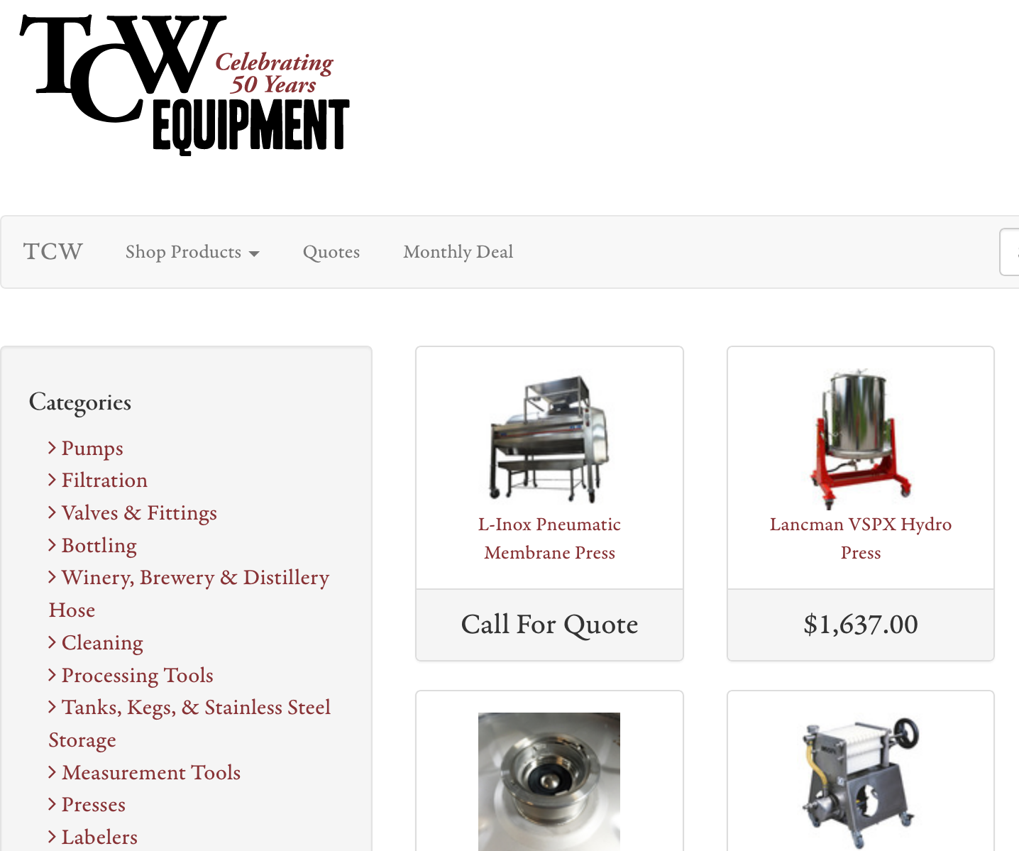 Screenshot_2019-01-07 Equipment for wineries, distilleries, and breweries - TCW Equipment Store.png
