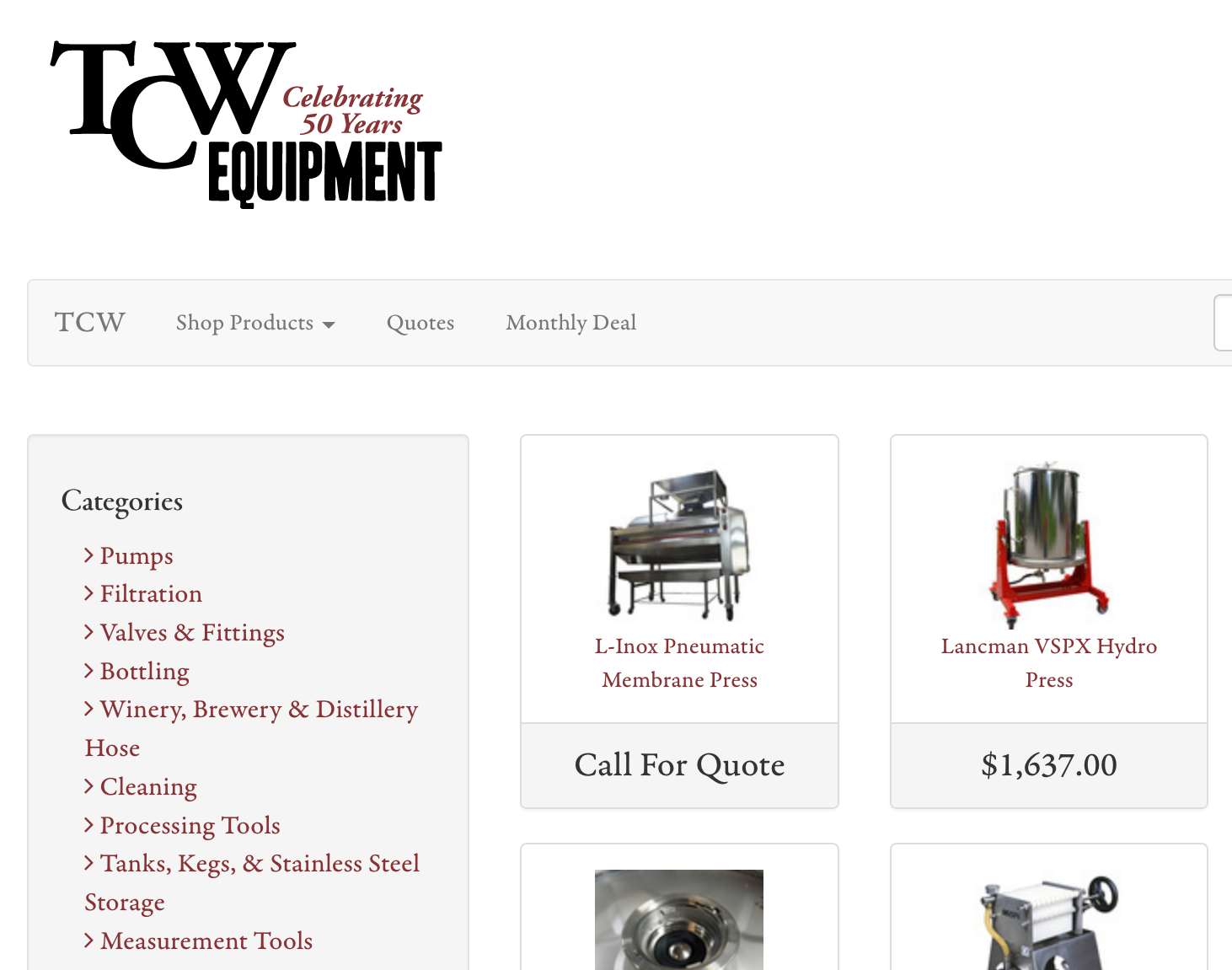 Screenshot_2019-01-10 Equipment for wineries, distilleries, and breweries - TCW Equipment Store.png