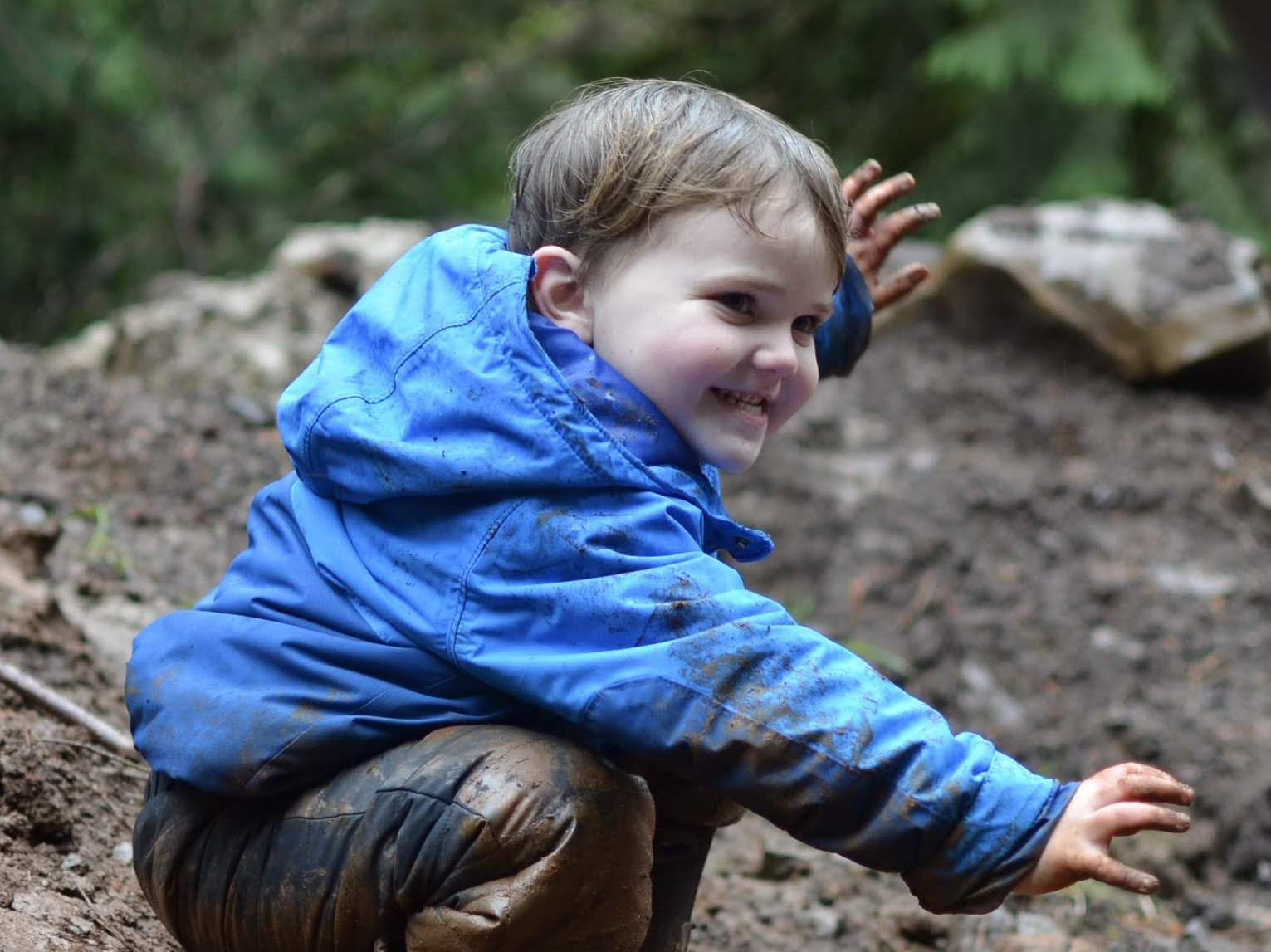 - Am I ok with my child being potentially muddy and sometimes bruised from exploring at the end of the day?