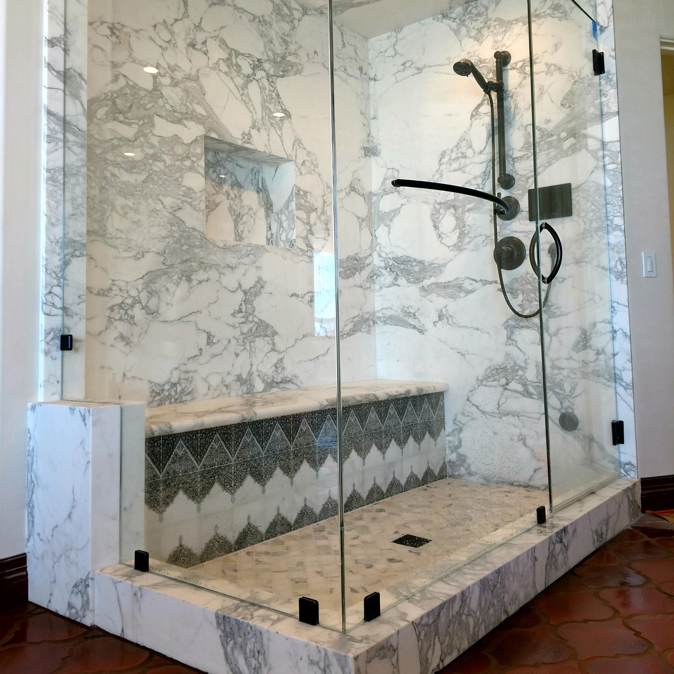 marble slab steam shower