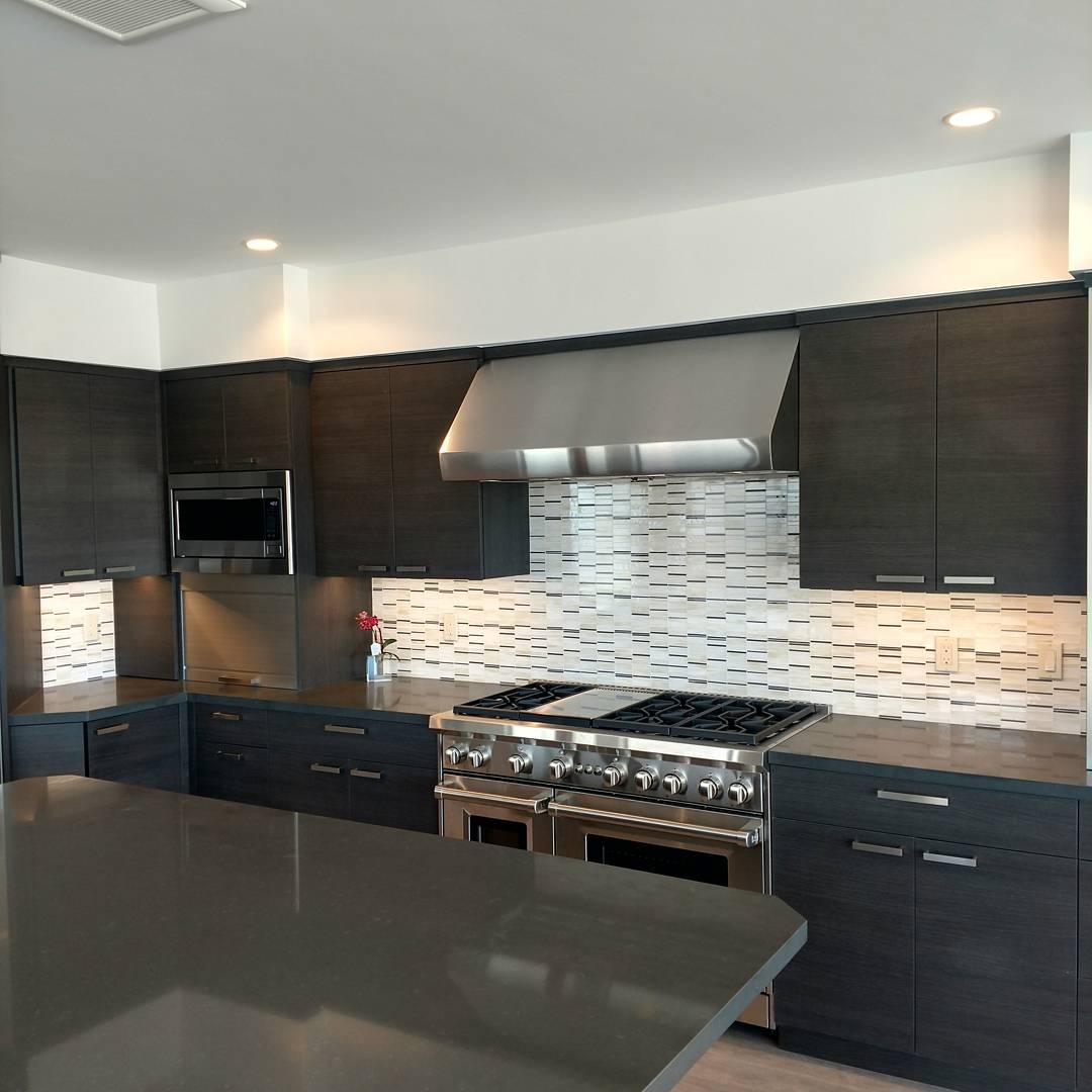 thin glass tile mosaic kitchen backsplash