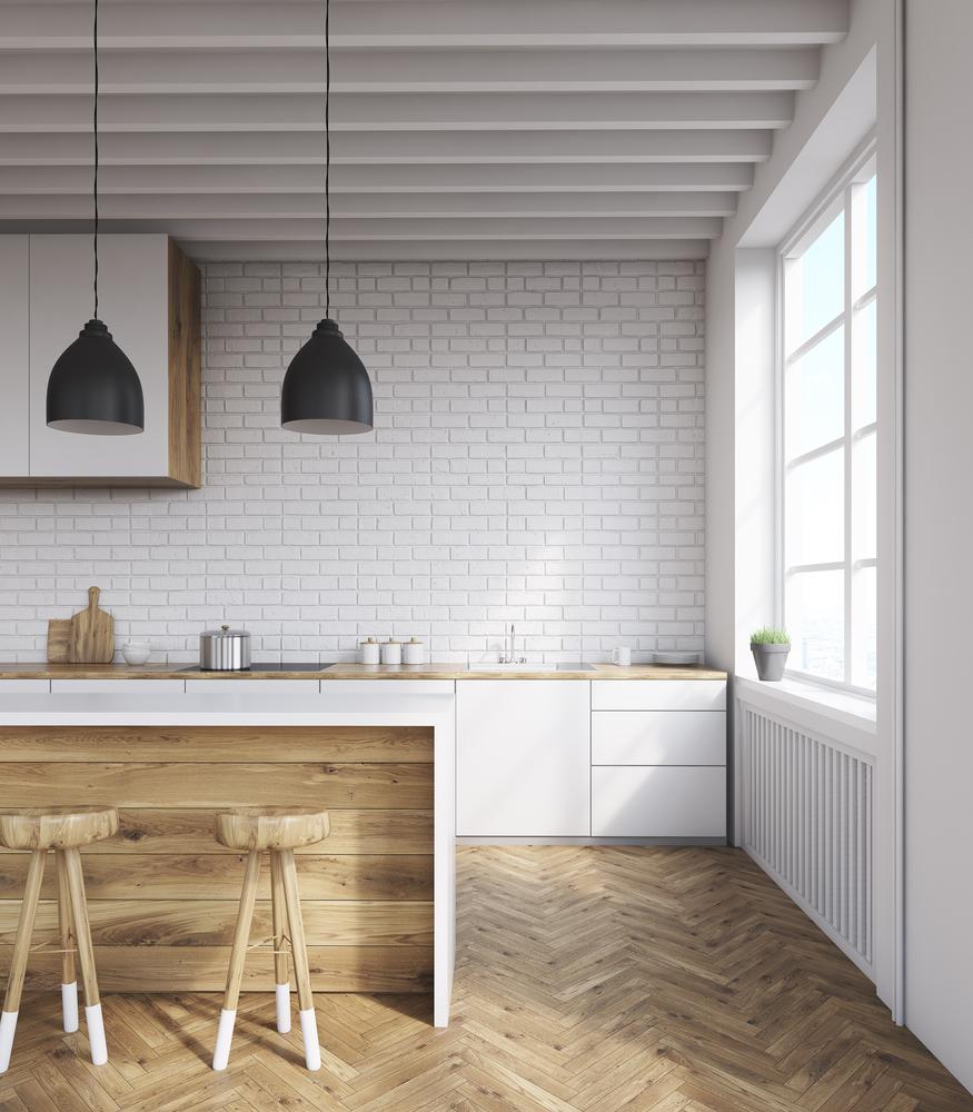 modern rustic kitchen natural materials