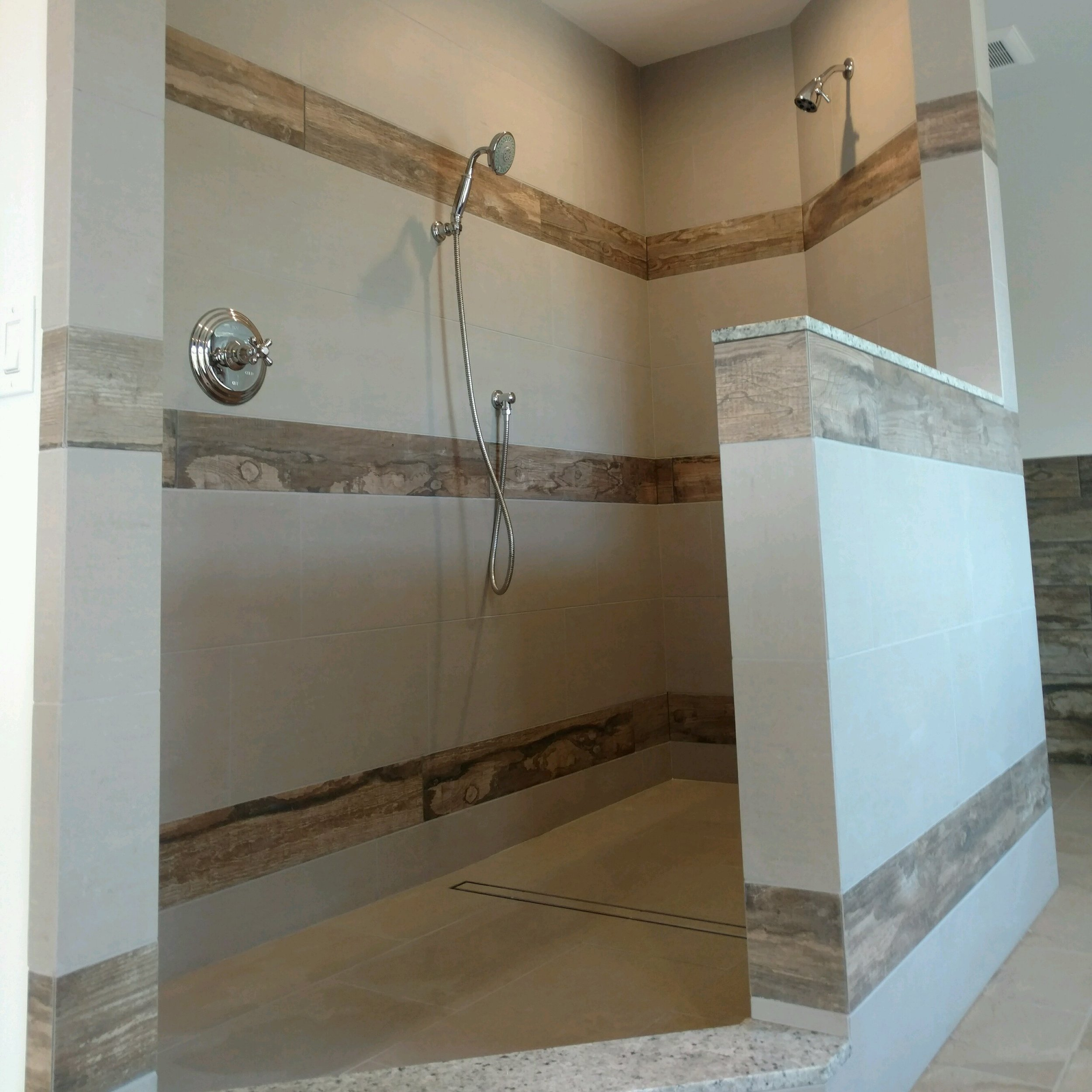 bathroom remodel- wood plank tile with gray porcelain.jpg