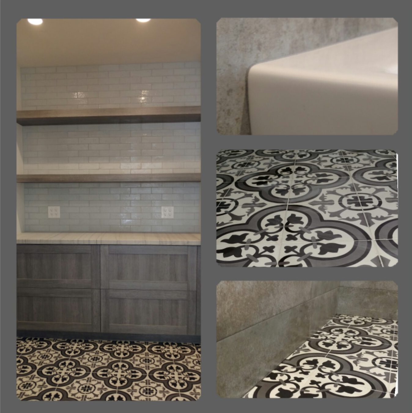 cement tile floor ceramic tile splash