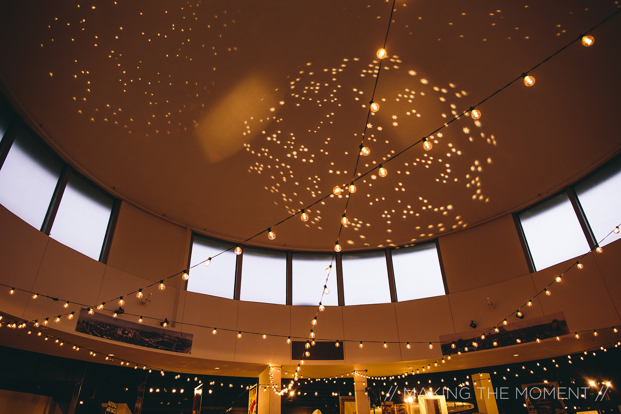 Western Reserve Historical Society wedding reception in the Crawford Rotunda