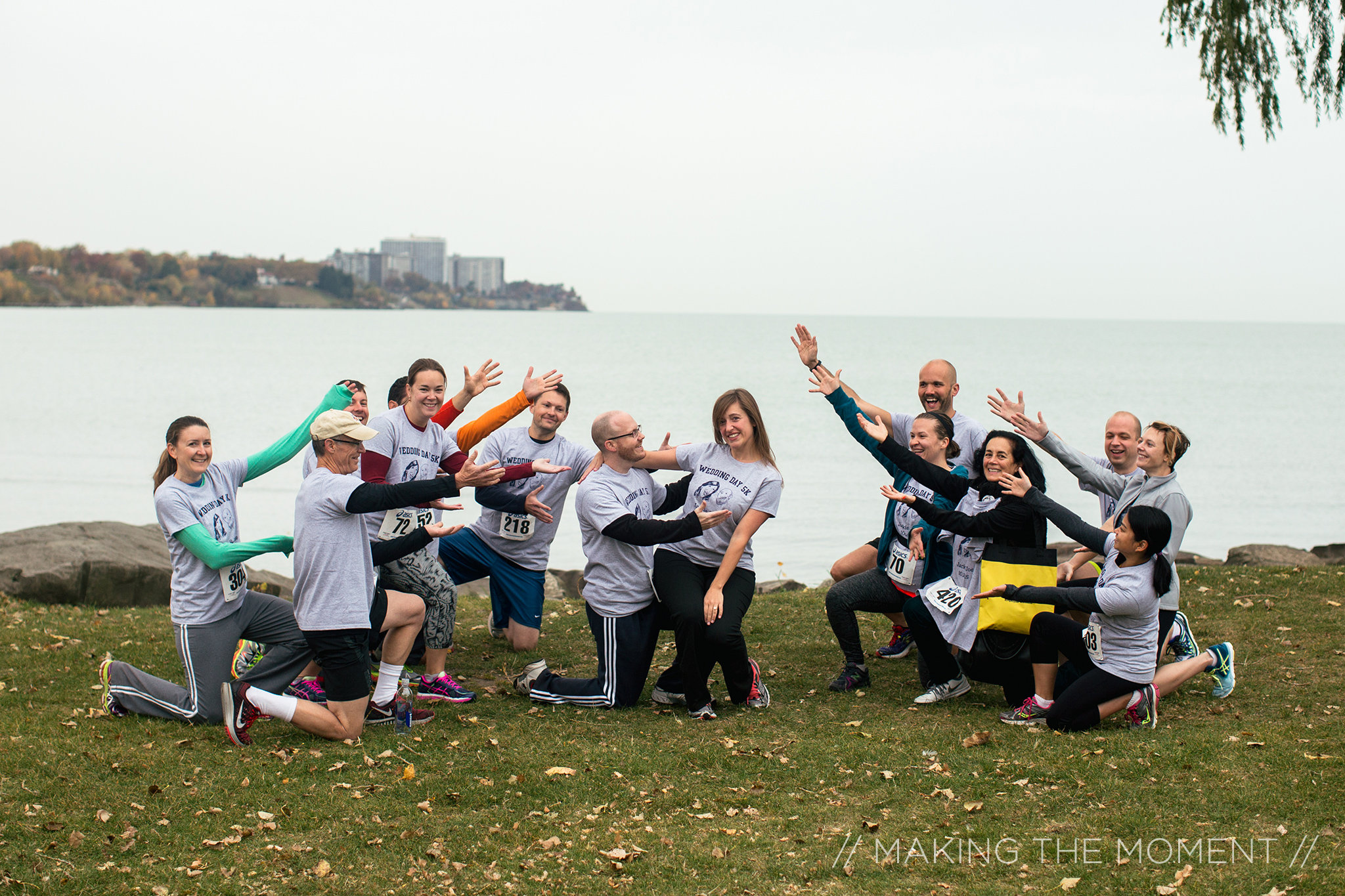 What a way to start the day!  The groom ran in the Cleveland Clinic Wellness Run on the wedding day.