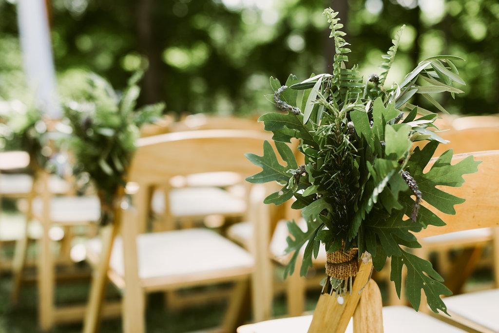 Meadow Ridge Farm Wedding ceremony decorations