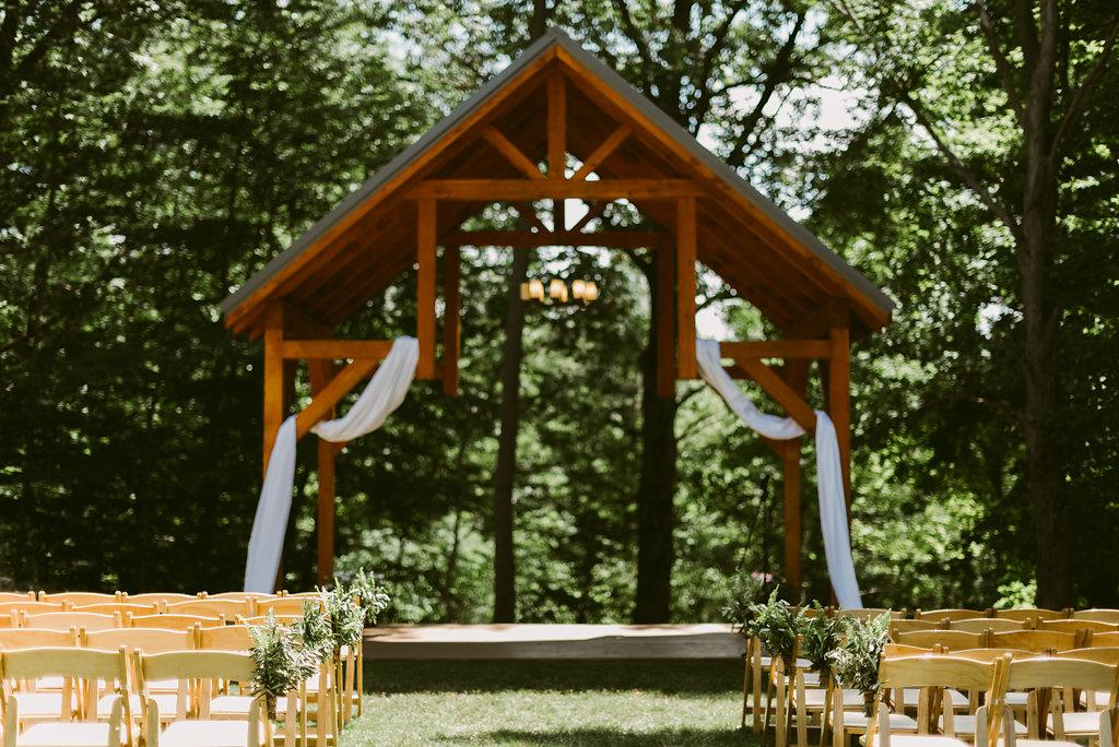Meadow Ridge Farm Wedding ceremony location