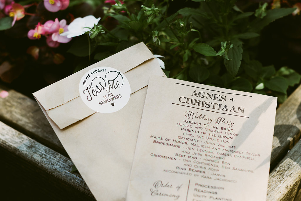 Don't miss these beautiful eco-friendly wedding programs