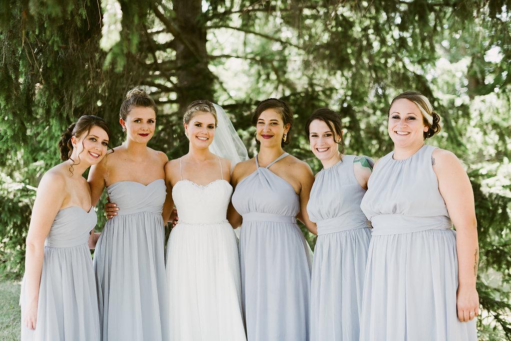 Meadow Ridge Farm Wedding party bridesmaids