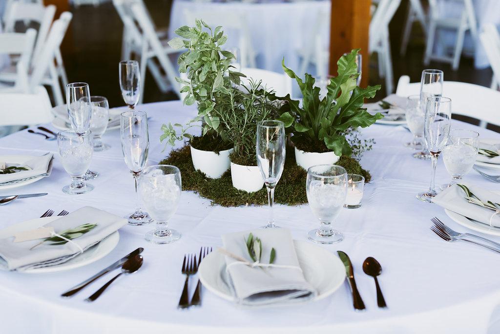 Meadow Ridge Farm Wedding reception table
