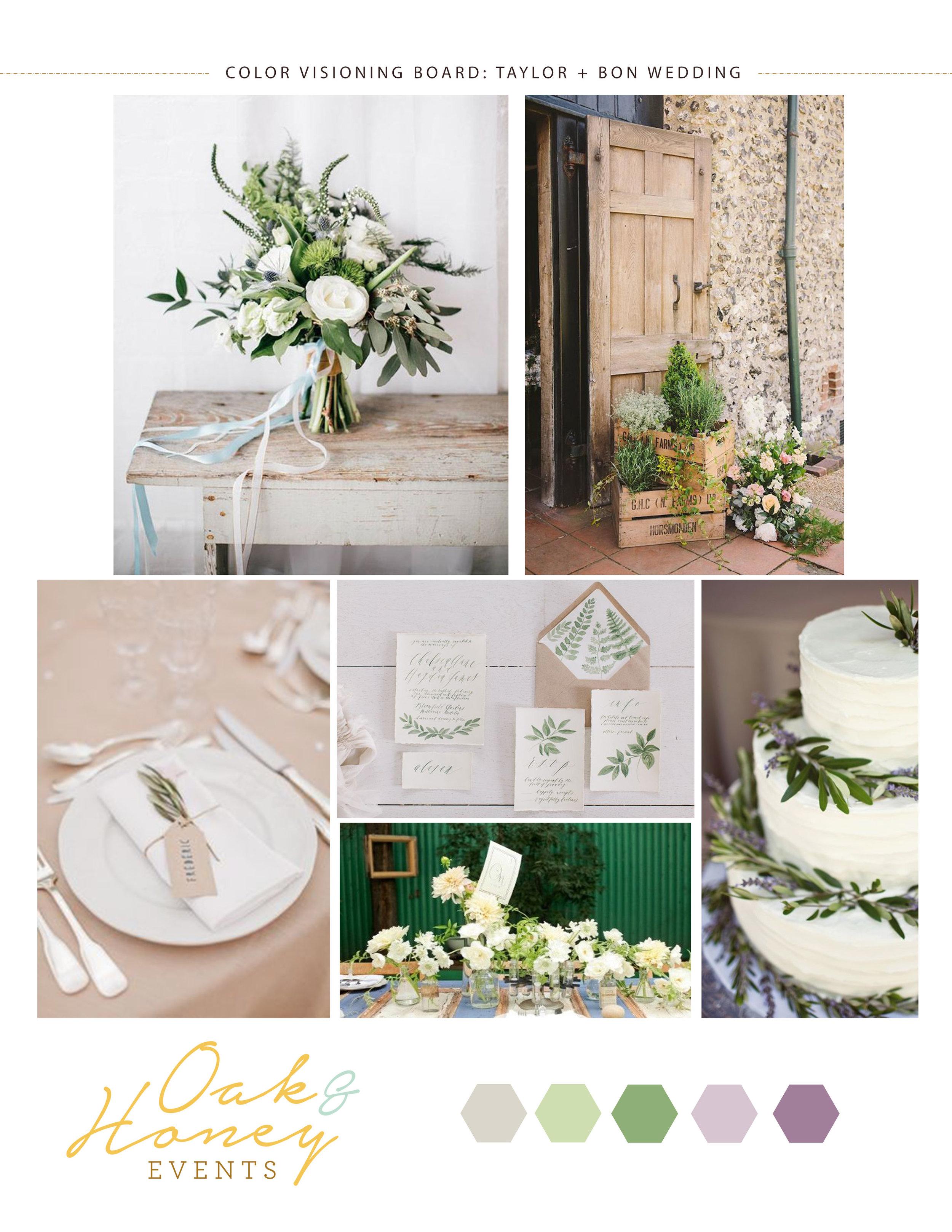 Meadow Ridge Farm Wedding vision board