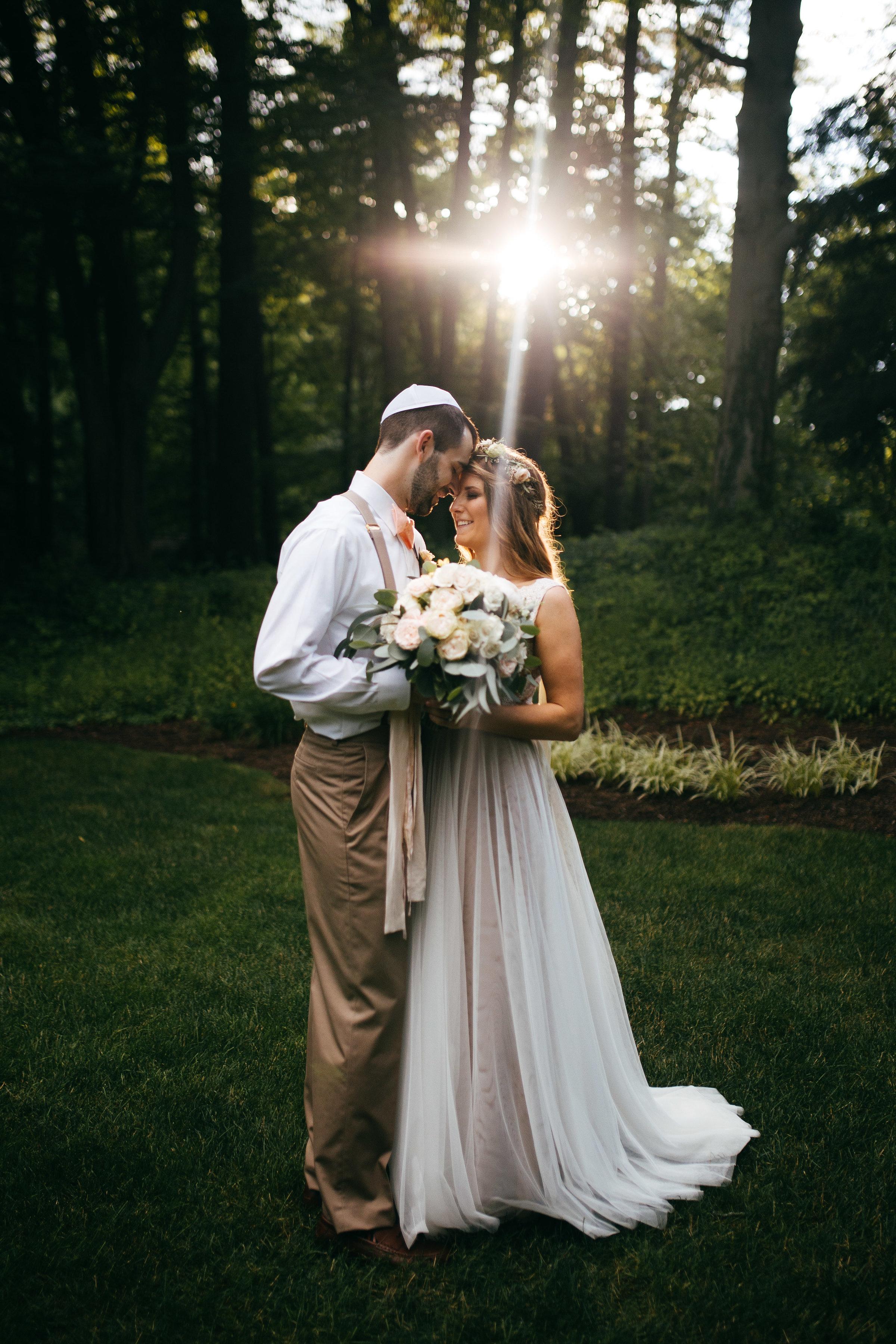 Ohio Jewish outdoor wedding